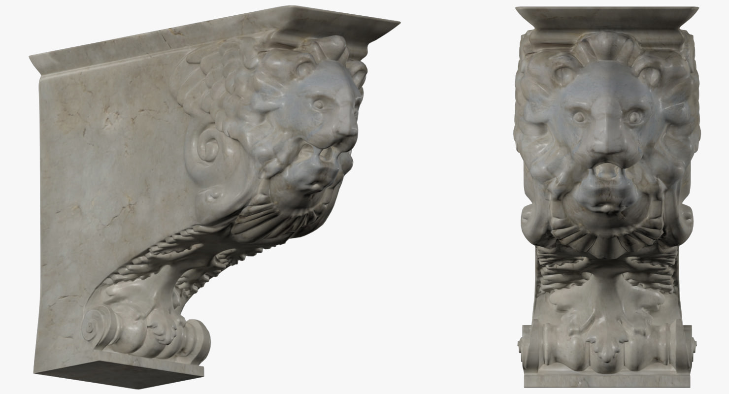 statue lion 3d max