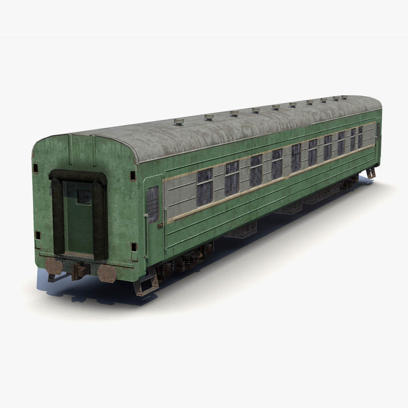 old passenger car 3d model