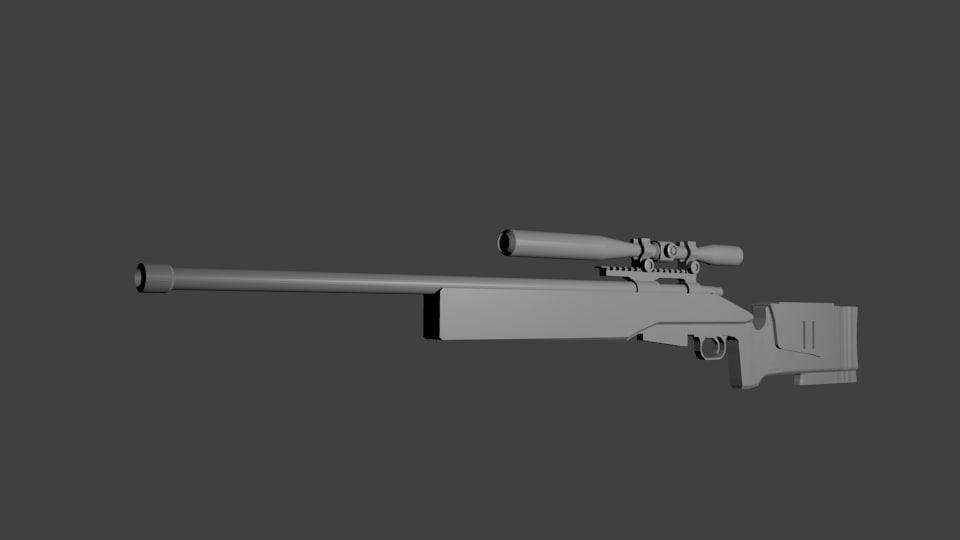 weapon gun fbx
