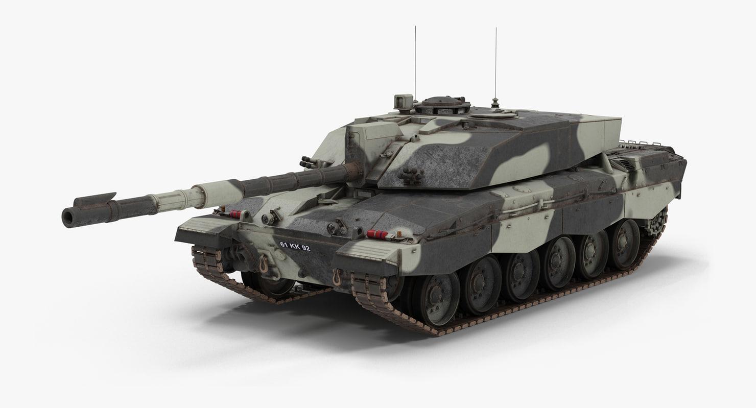 3d model fv 4034 challenger 2
