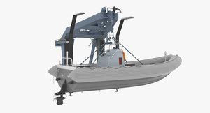 navy rhib crane 3d max