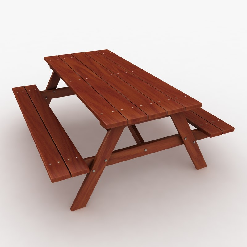 realistic bench table 3 max