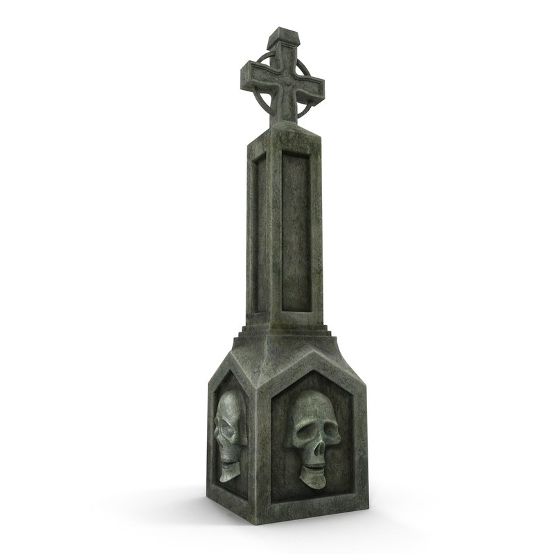 3dsmax halloween gravestone