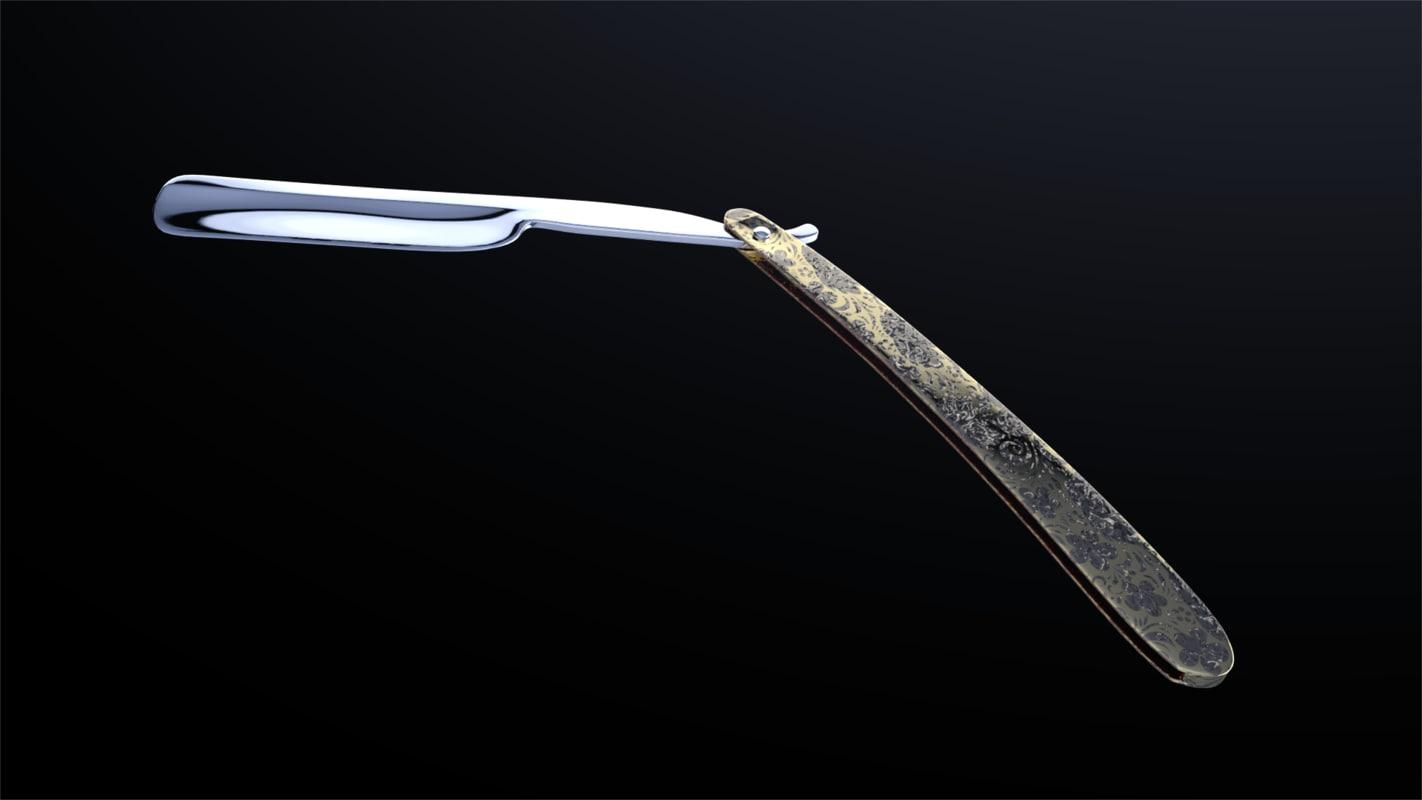 c4d straight razor