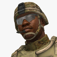 military male soldier set d