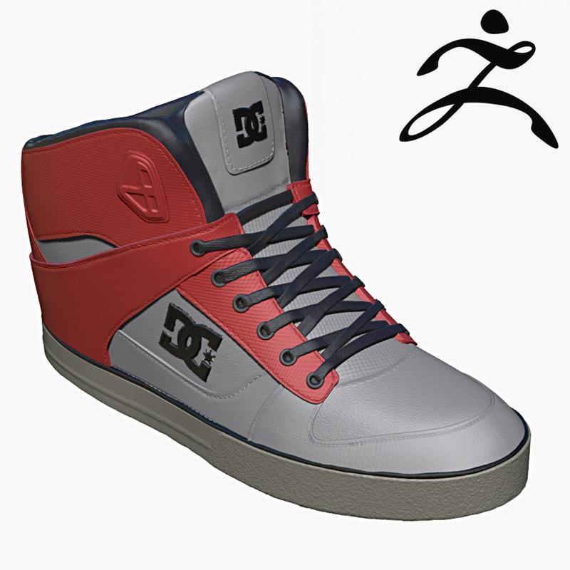 dc sneakers obj