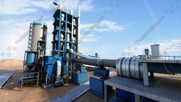 3d model concrete plant