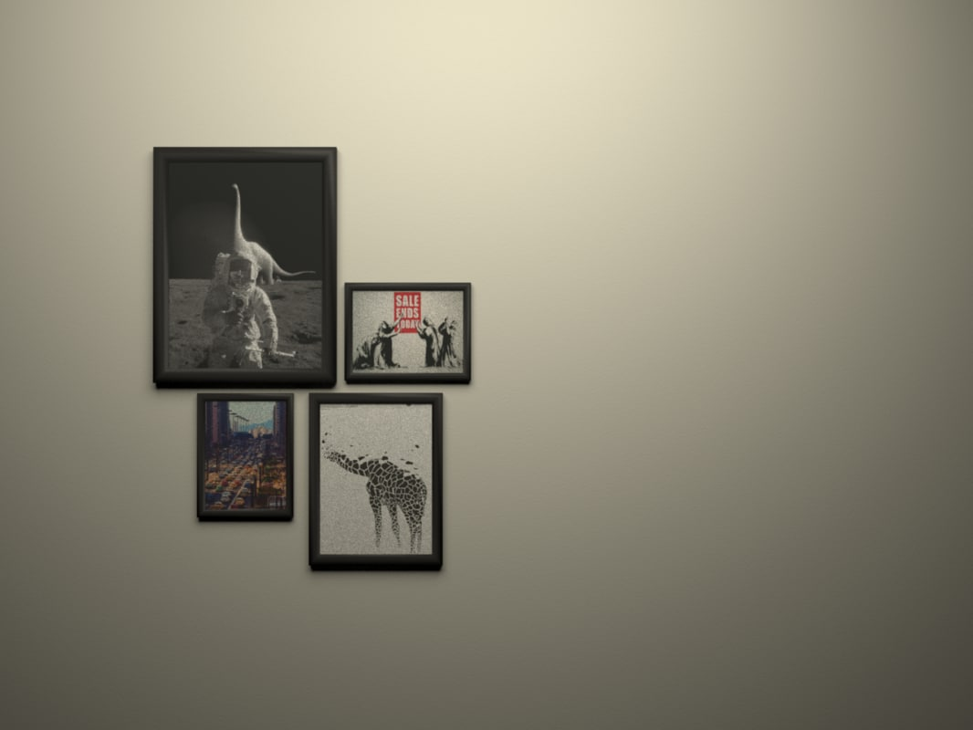 free modern frames 3d model