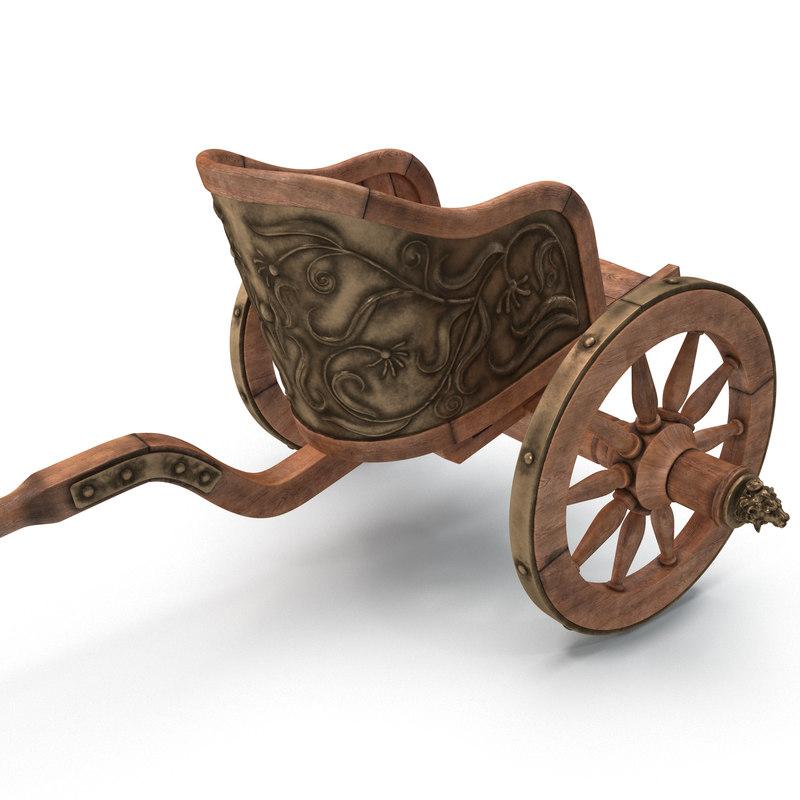 3d model roman chariot racing