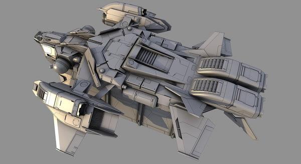 cargo spacecraft 3d model