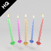 3d model birthday candle