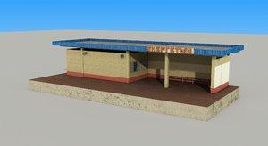 3d model passanger pavilion