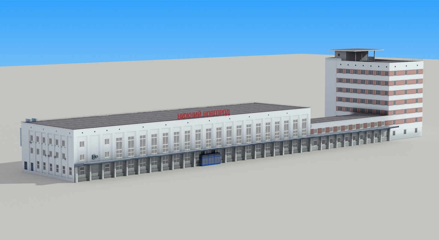 railway station nigny novgorod 3d model