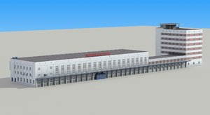 railway station nigny novgorod 3d model