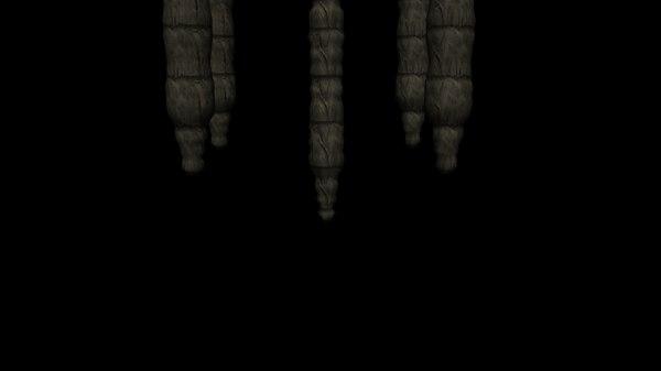 stalagmites caves 3d fbx