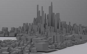 3d city distant model