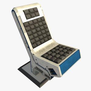 futuristic sci-fi spaceship chair max