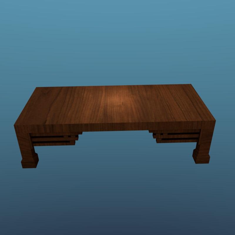 3d model japan tables