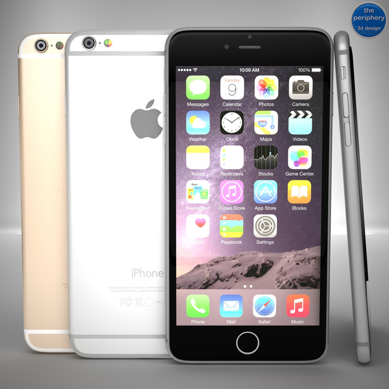 3d obj apple iphone 6 space