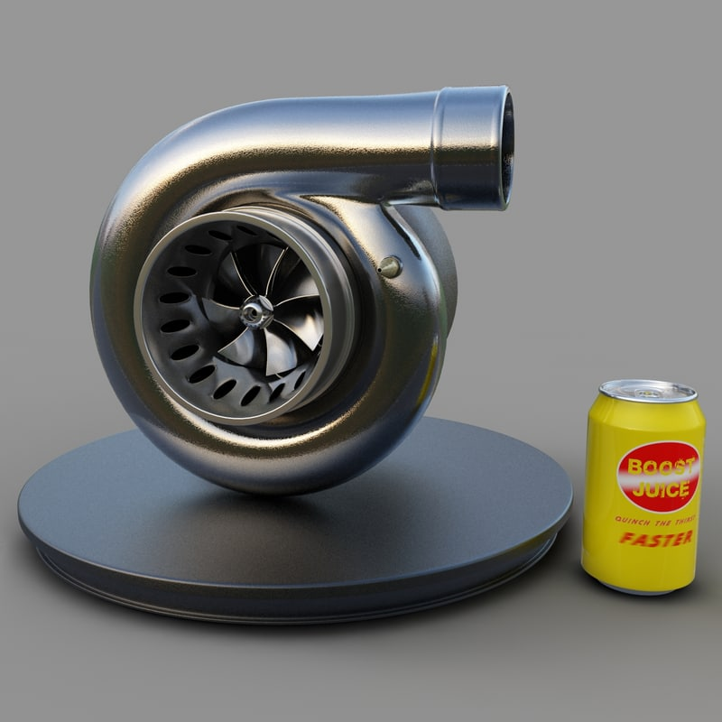 3d model of turbo