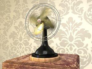 3d model fan motion blur