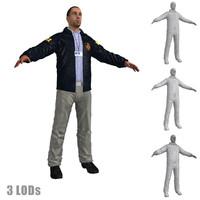 fbi agent 2 3d model