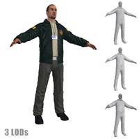 fbi agent 3 3d model