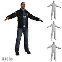 3d fbi agent model