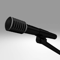 3d microphone mic model