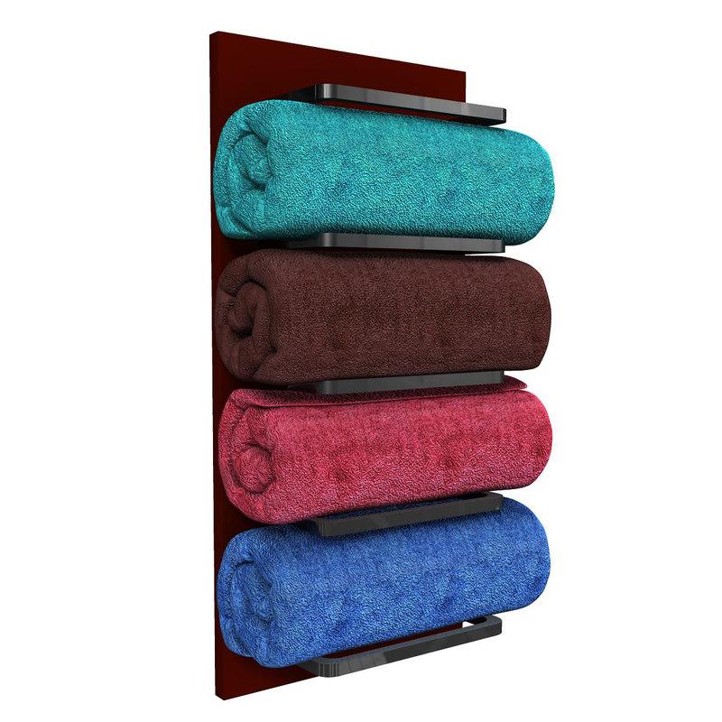 bathroom towel obj