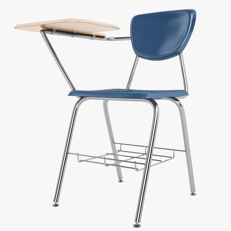 desk school 3d model