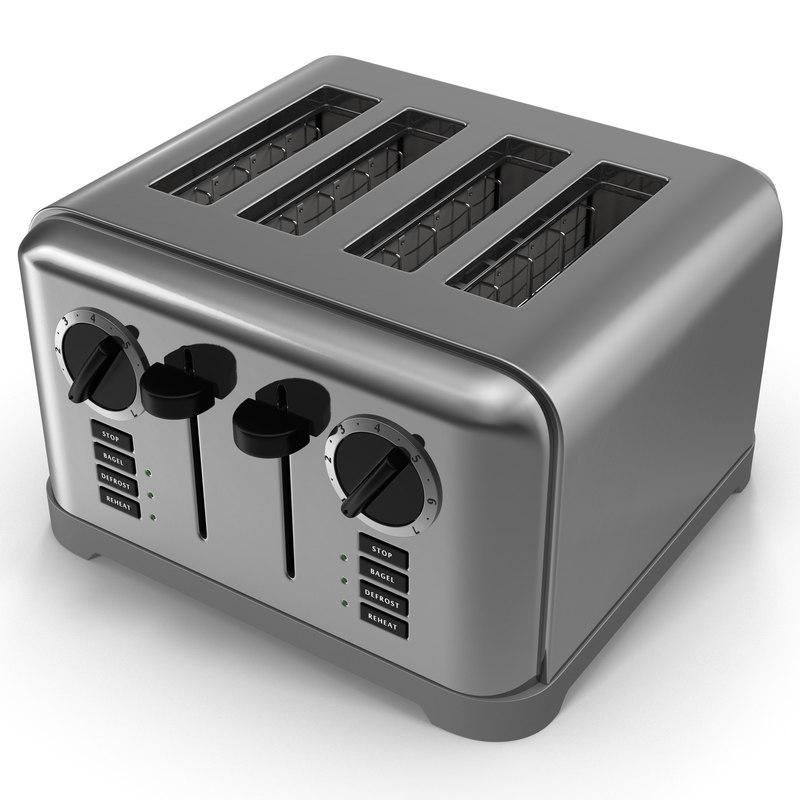 toaster 4 slice 3d model