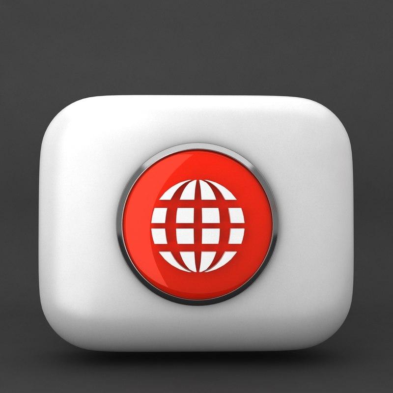 3d web icon model