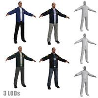 fbi agent 3d model