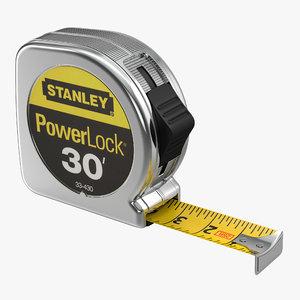 3d model tape measure stanley powerlock