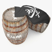 Rum wooden barrels - pirate style
