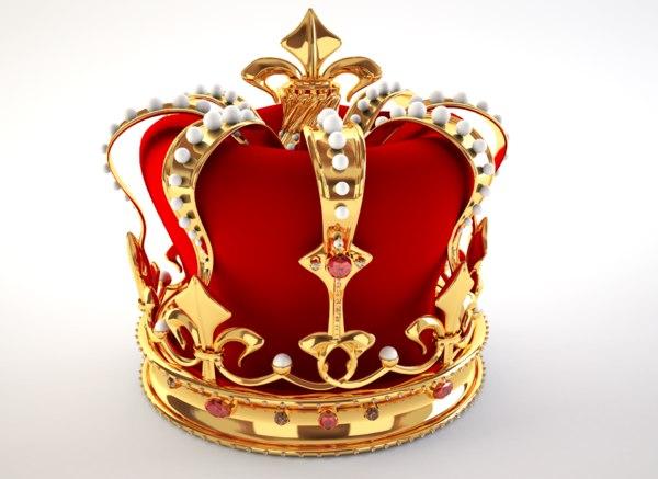 3d king crown model