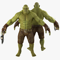 green orc 3d 3ds