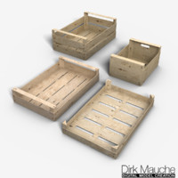 3dsmax set vegetable fruit crates