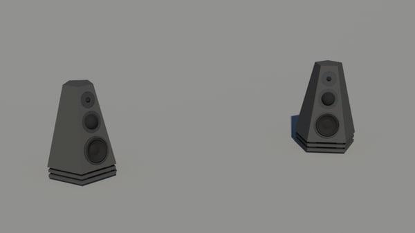 custom speakers 3d max