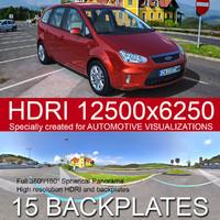 Parking in the mountain  HDRI panorama