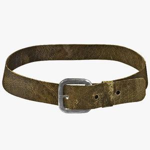 3ds max medieval leather belt