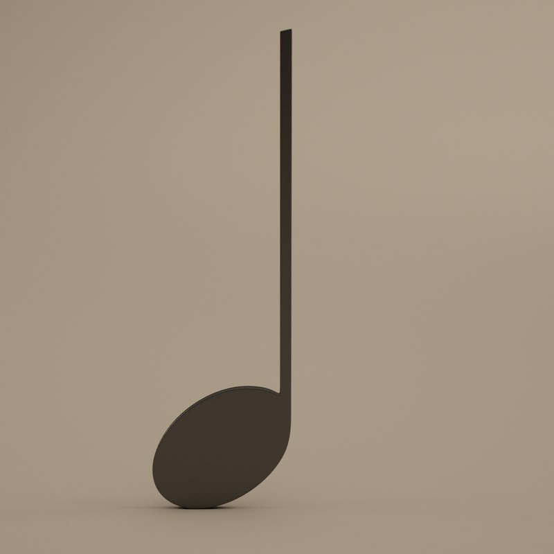 musical symbols modeled 3d model