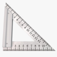 Steel Triangle Ruler
