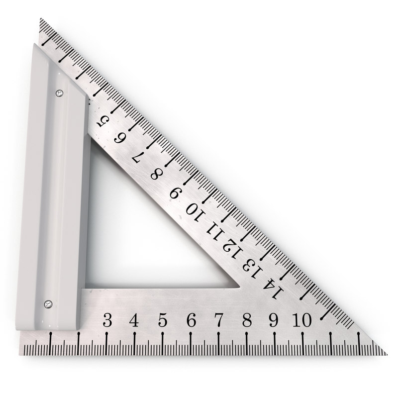 max steel triangle ruler