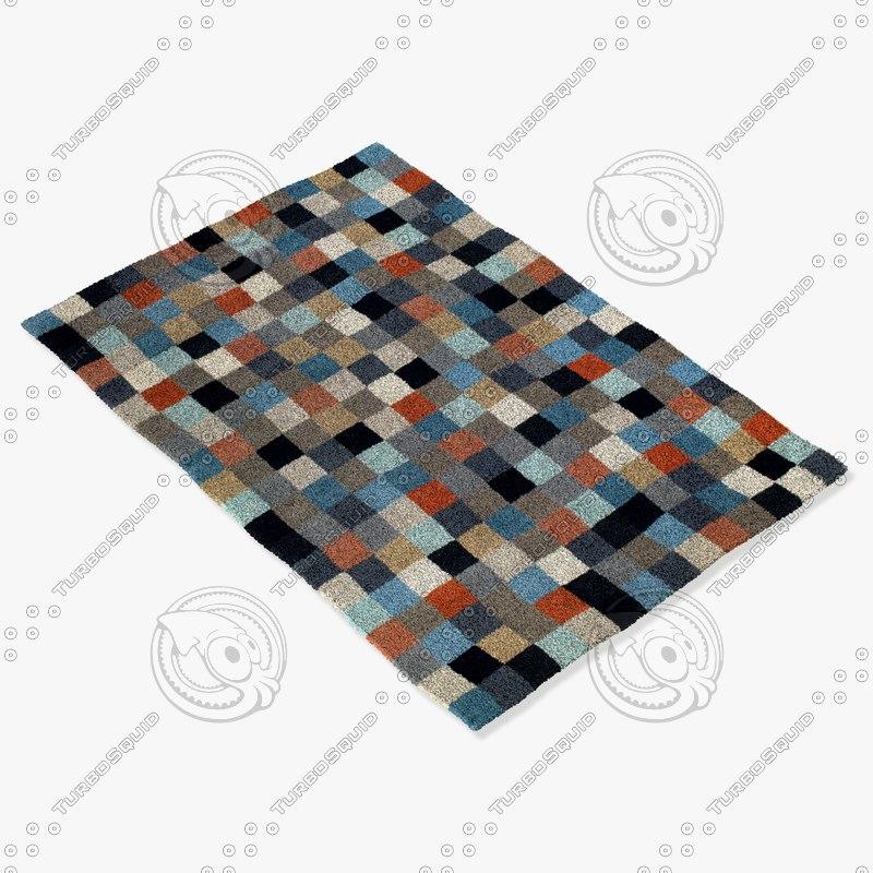 3d model boconcept pixel rug 106071007590