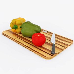 set vegetable 3d model