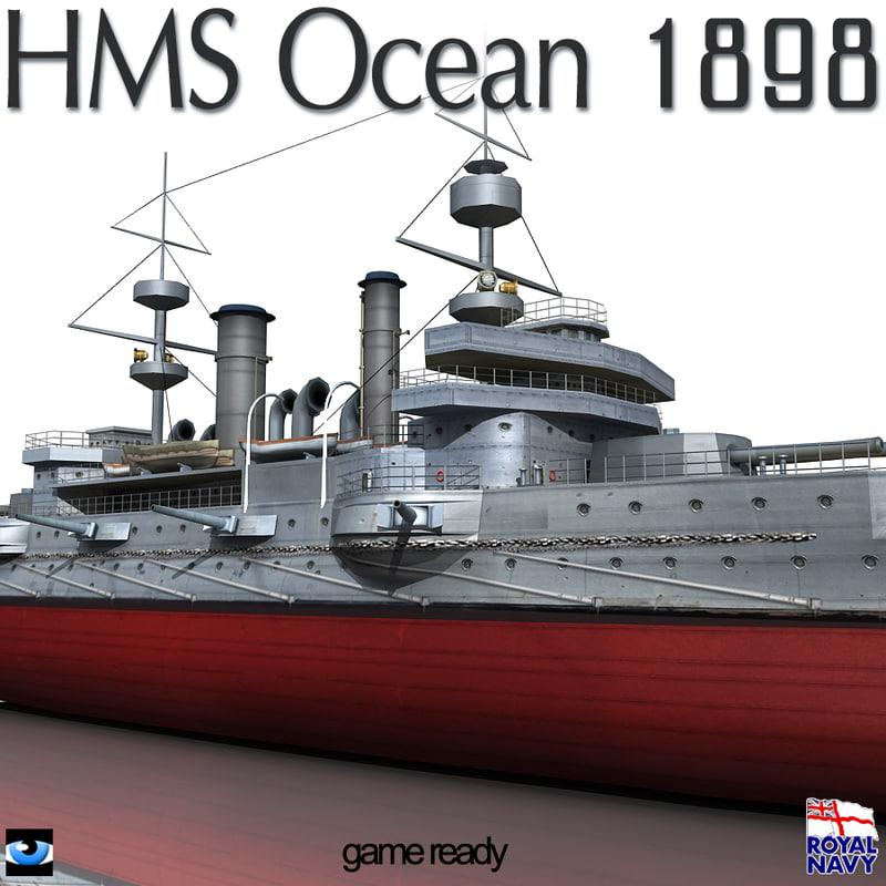 3ds hms ocean 1898 world war