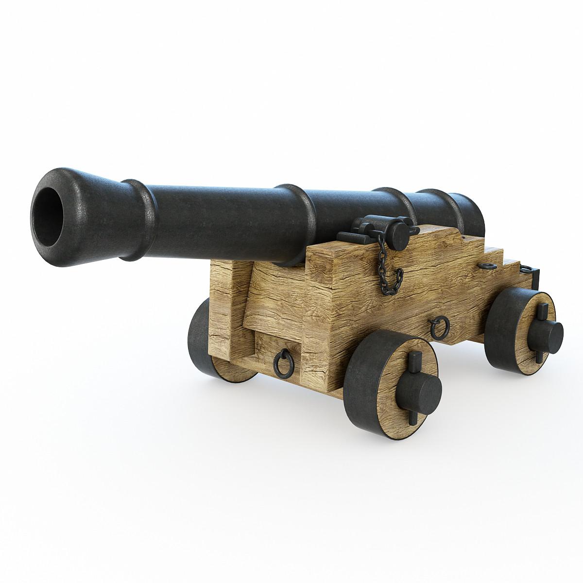 cannon artillery naval 3d model