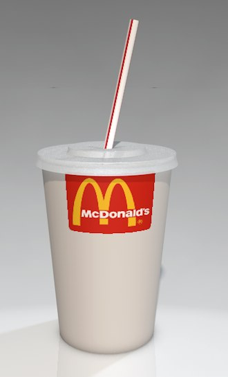 3ds fast food cup